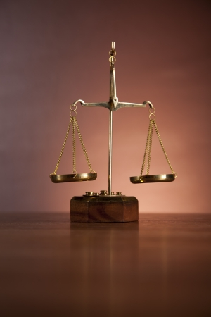 Law and justice stuff with dark background Stock Photo - 16114410