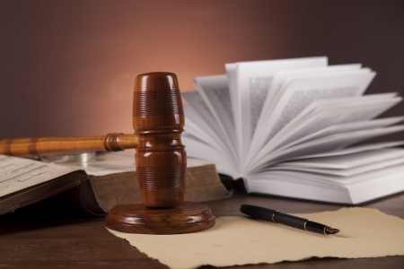 Scales of justice with ambient light Stock Photo - 16114421