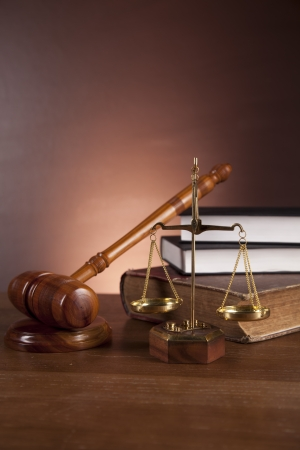 Law and justice theme with atmospheric light