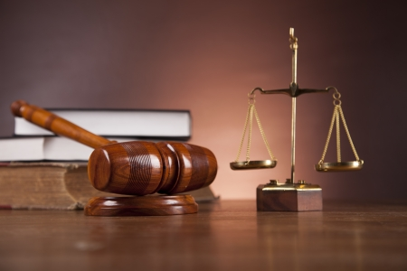 Law and justice composition with dark background