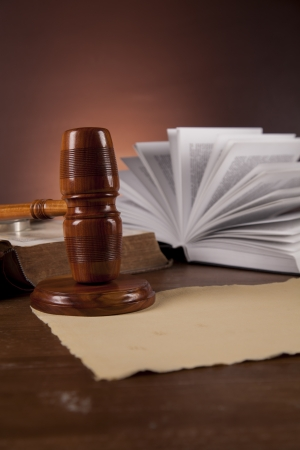 Wooden desk in a law firm Stock Photo - 16114426