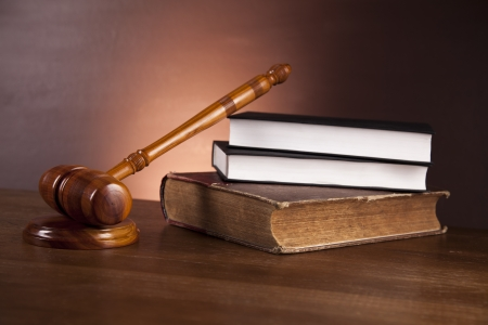 Wooden desk in a law firm