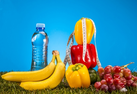 Healthy food, fitness theme photo