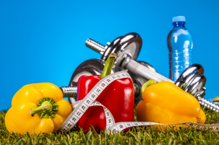 Health and fitness composition Stock Photo