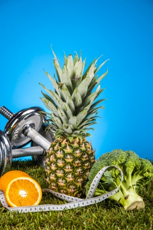 Fruits and vegetables, fitness theme photo