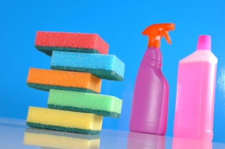 Saturated concept of cleaning photo