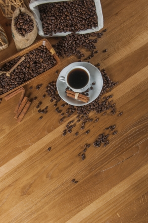 Atmospheric traditional coffee concept