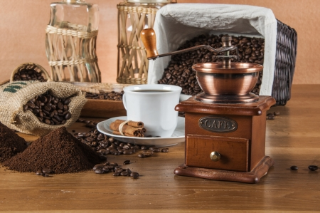 Traditional country theme, coffee