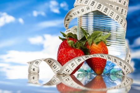 food stuff: Fitness theme with healthy food stuff Stock Photo