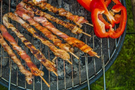 Grilling theme with barbecue stuff photo