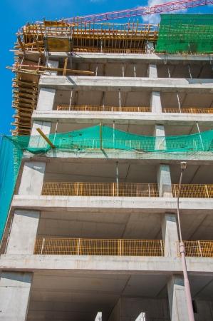 edifice: Construction site of concrete edifice