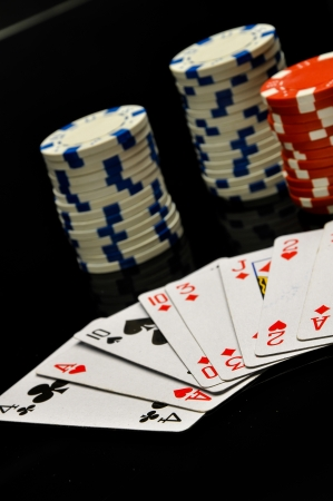 Casino concept with ambient light Stock Photo