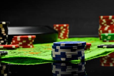 Dark concept, gambling, casino Stock Photo