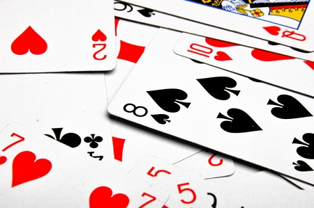 Composition od gambling, black background Stock Photo