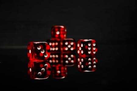 Dark concept od gambling games Stock Photo