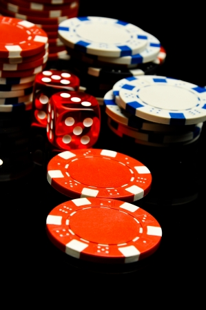 Dark roulette, casino theme with gambling stuff