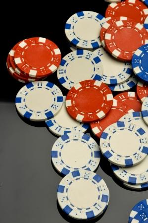 Elegant casino theme with dark background