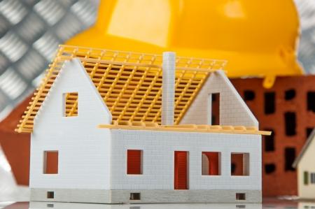 Professional construction site concept Stockfoto