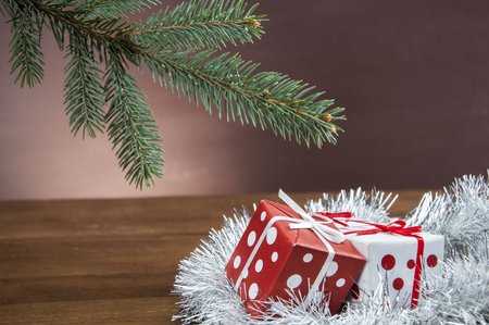 ambient light: Bright Christmas stuff with ambient light Stock Photo