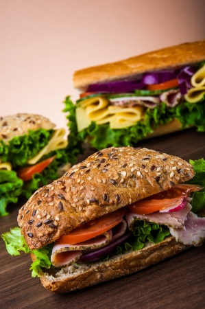 Natural healthy lunch with sandwich Stock Photo