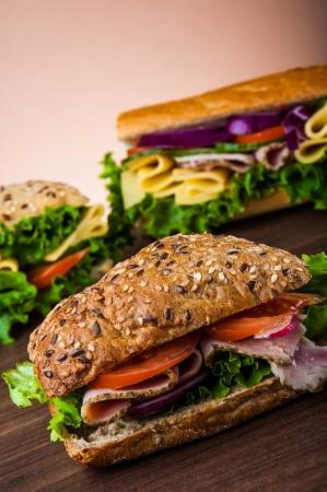 Natural healthy lunch with sandwich Zdjęcie Seryjne