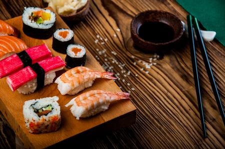 Oriental theme with sushi