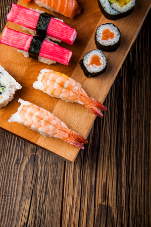 Tasty, fresh and healthy sushi set