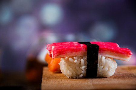Japanese sushi set photo