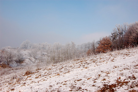 Winter season in Lower Silesia Stock Photo