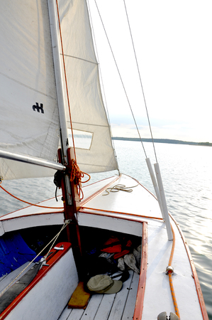 Sailing time, Polish lake land photo