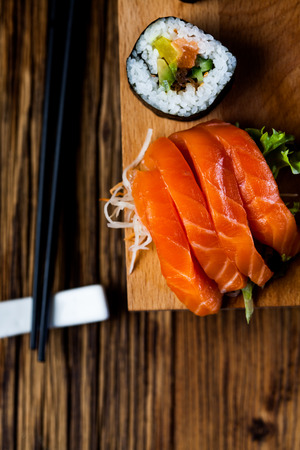 Fresh Japanese sushi set