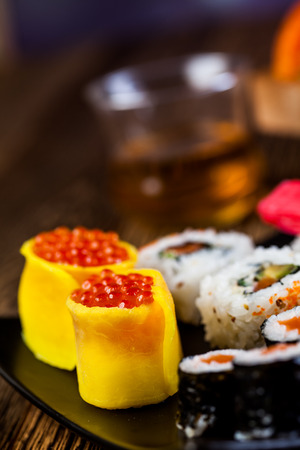 Fresh and tasty sushi from Japan photo