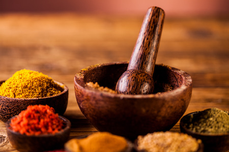 variability: Traditional oriental theme with spices Stock Photo