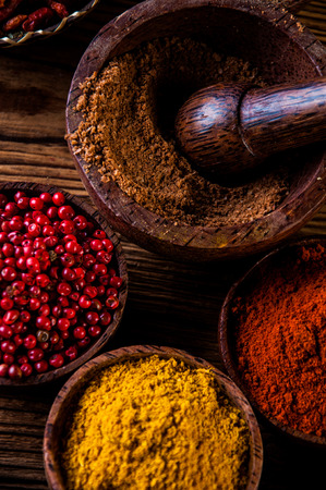 variability: Asian hot theme with spices Stock Photo