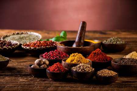 Asian hot cuisine with traditional spices