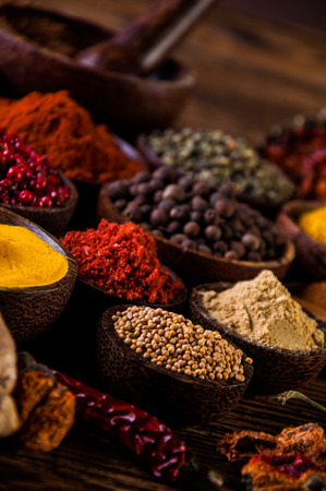 variability: Colorful spices, oriental theme