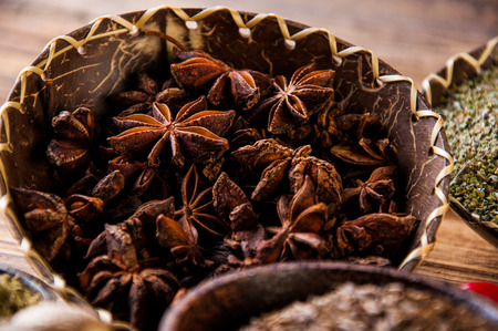 variability: Traditional oriental them with spices