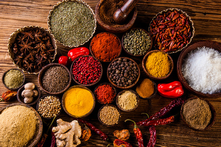 Traditional oriental them with spices