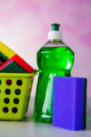 Saturated colors, washing concept