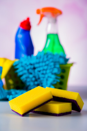 Cleaning equipment with hard light and saturated colors