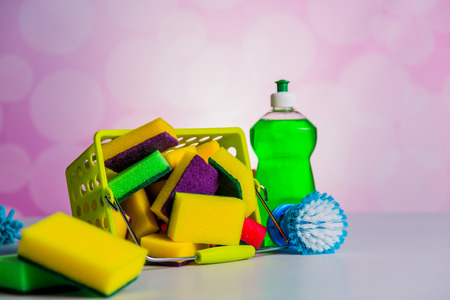 plastik: Saturated colors, washing concept