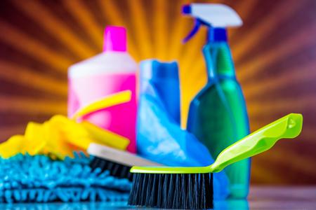 Washing, cleaning on light background