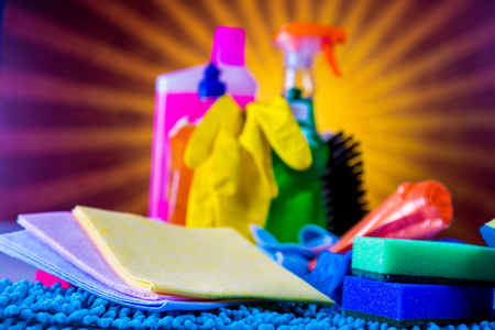 Cleaning theme, saturated concept