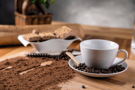 Coffee background, home ambient concept