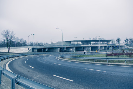 fueled: Modern architekture in Wroclaw Poland Stock Photo