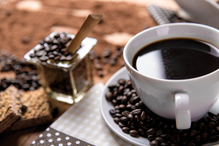 home related: Home related concept of coffee break Stock Photo