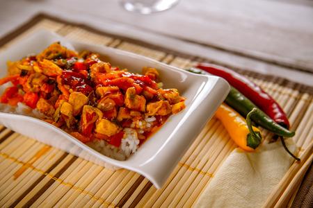 alimentacion natural: Cena en casa, fondo de alimentos naturales
