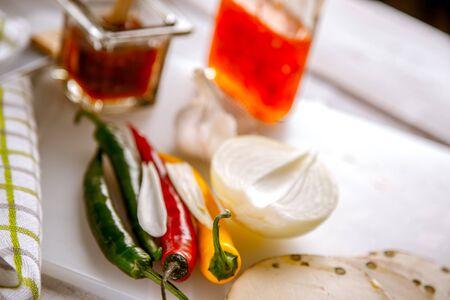 alimentacion natural: Vibrante concepto de alimento natural hecho en casa