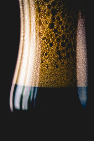 Glass of dark beer, ambient concept Stock Photo