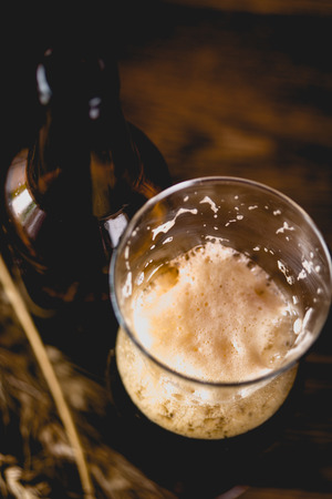 Glass of dark beer, ambient concept Stock Photo